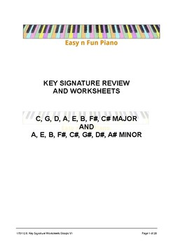Easy 'n' Fun: Key Signature Review and Worksheets (sharps)