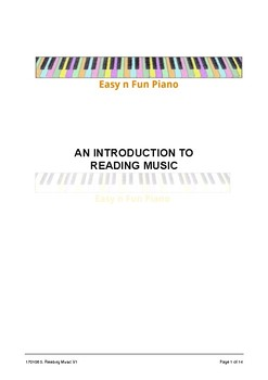 Easy 'n' Fun: An Introduction to Reading Music