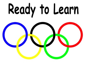 Easy to Assemble Olympic Themed Clip Chart