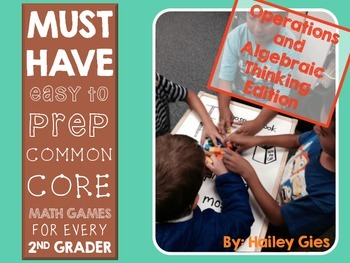 Easy to Prep Math Centers for 2nd Graders: Operations and