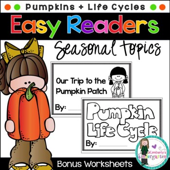 Easy/Emergent Readers! Pumpkins: Life Cycle & Pumpkin Patc