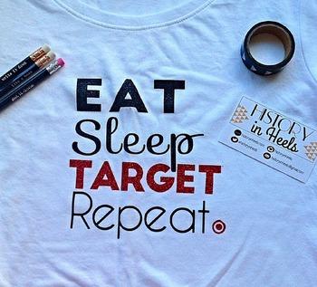 Eat, Sleep, Target, Repeat Graphic Tee Shirt Large