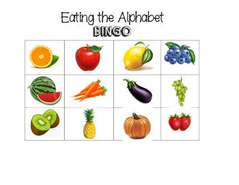 Eating the Alphabet BINGO