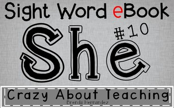 Ebook-Sight Word 'She'