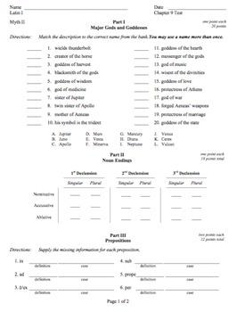 Ecce Romani Chapter 09 Test