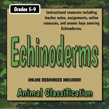 Echinoderm Teacher Notes & Worksheet