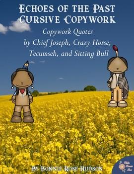 Echoes of the Past Copywork-Cursive Style