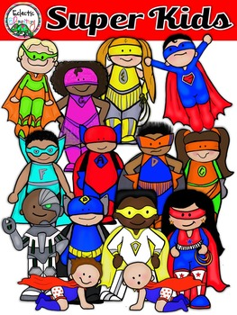 Eclectic Elementary Super Kids Clipart