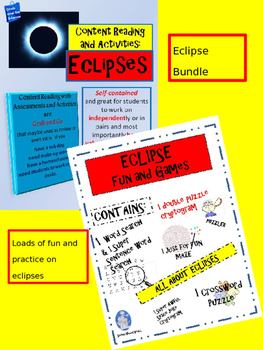 Eclipse Bundle... Content Reading, Activities, Fun and Games