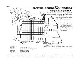 Eco Enrichment: Desert-Themed Word Puzzle