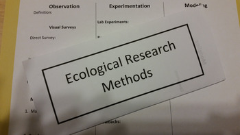 Ecological Research Methods Tri-fold