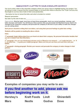 Ecological study of FAIR TRADE COCOA BEANS AND CHOCOLATE W