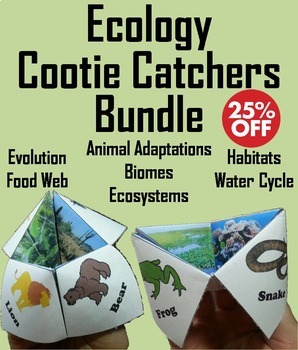 Ecology Activities Bundle: Animal Habitats, Food Web, Biom