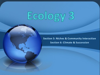 Ecology 3 PowerPoint & Writing Activity