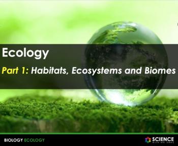 Ecology: Habitats, Biomes, Food Chains, Food Webs, Interac