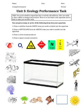 Ecology Lab- Design an Ecosystem, Food web, Symbiotic, Population