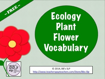 Ecology Plant Flower Vocabulary