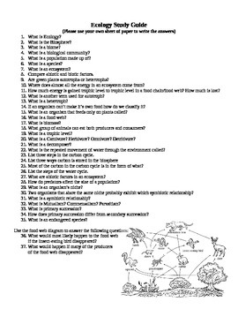 Ecology Study Guide
