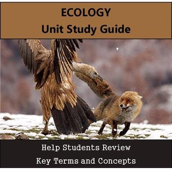 Ecology Unit Study Guide