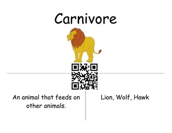 Ecology Vocabulary Review Using QR Codes