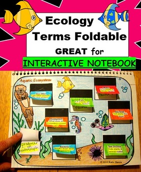Ecology Vocabulary Terms Foldable