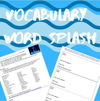 Ecology Vocabulary- Word Splash