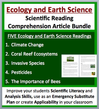 Ecology and Earth Science - Grade 8 and Up - Science Readi