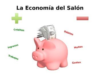 Economía del Salón (Classroom Economy) - Spanish, EDITABLE