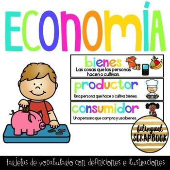Economia (Tarjetas de Vocabulario) Economics Vocabulary Cards