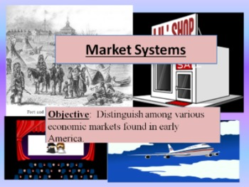 Economic Market Systems Powerpoint and Skit:  Traditional,