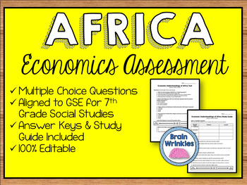 Economic Systems of Africa Assessment (Editable)