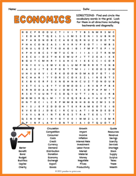 Economics Word Search Puzzle