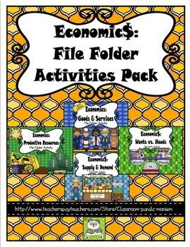 Economics File Folder Activity Pack