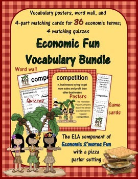 Economics Fun - S'mores Vocabulary Posters, Matching Game