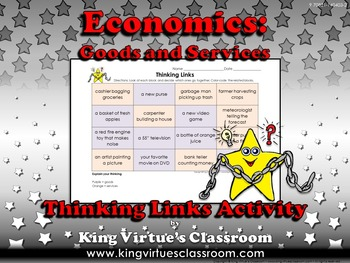 Economics: Goods and Services Thinking Links Activity #1 -