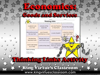 Economics: Goods and Services Thinking Links Activity #2 -