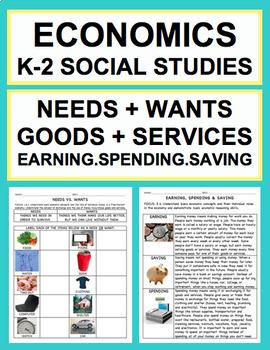 Economics K-2 Unit: Needs, Wants, Goods, Services, Spendin