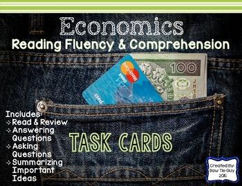 Economics Reading Fluency & Comprehension Task Cards