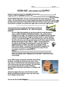 Economics Supply Introduction: Law of Supply and Determina