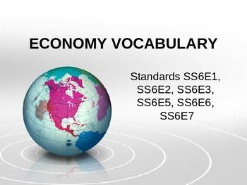 Economics Vocabulary PPT 6th gr SS
