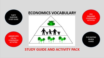 Economics Vocabulary: Study Guide and Activity Pack