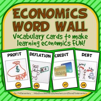 Economics Vocabulary Word Wall