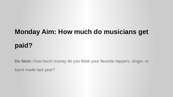 Economics and The Music Industry