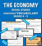 ECONOMY  Content Vocabulary - Social Studies Grade 4 - 5 I