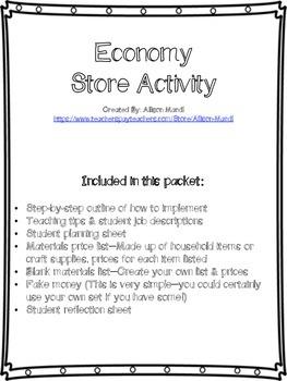 Economy Store Activity