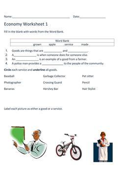 Economy Worksheets
