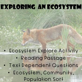 Ecosystem Explore Activity + Short Reading Passage +Text D