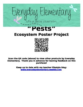 Ecosystem Project - Pest Posters