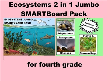 Ecosystems 2 in 1 SMARTBoard Pack for Fourth Grade