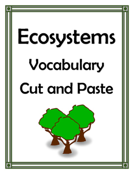 ECOSYSTEMS VOCABULARY